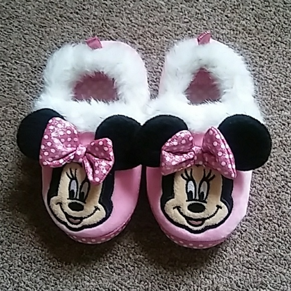 Disney Minnie Mouse Pink Slippers Girl